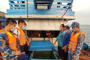Tạm giữ tàu cá cải hoán chở 100.000 lít dầu D.O không rõ nguồn gốc