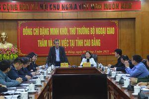 Đoàn công tác của Bộ Ngoại giao thăm và làm việc tại Cao Bằng