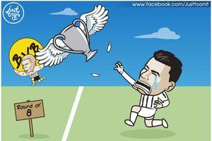 Biếm họa 24h: Cristiano Ronaldo nhận cái kết 'đắng lòng' ở Champions League