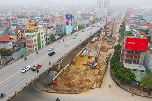 Toàn cảnh đại công trường cầu vượt sông Hồng và hầm chui của Hà Nội