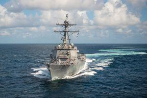 Hải quân Mỹ triển khai tàu USS John Finn qua eo biển Đài Loan