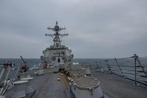 Tàu khu trục Mỹ lại quá cảnh Eo biển Đài Loan, lần thứ 3 kể từ khi ông Biden nhậm chức Tổng thống