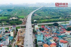 Toàn cảnh thi công dự án hơn 2.500 tỷ đồng bắc qua sông Hồng