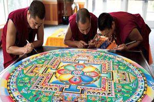 Cận cảnh tranh cát tuyệt đẹp của Phật giáo Tây Tạng