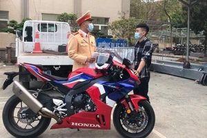 Phạt 10,5 triệu đồng thanh niên chạy xe máy gần 300km/h trên Đại lộ Thăng Long