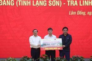 Trao giải thưởng cho cuộc thi tuyển phương án kiến trúc cao tốc Đồng Đăng - Trà Lĩnh