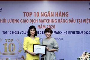 LienVietPostBank được vinh danh Top 10 ngân hàng có khối lượng giao dịch Matching lớn nhất thị trường ngoại hối Việt Nam 2020