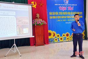 Hương Khê: Sôi nổi hội thi báo cáo viên của cán bộ Đoàn