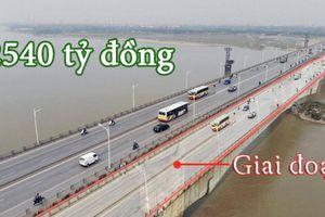 Thi công cầu Vĩnh Tuy giai đoạn 2, tàu thuyền đi lại thế nào?