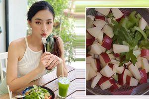 Cách sao Việt uống nước ép cần tây để dưỡng da, giữ dáng nuột nà