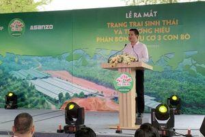 Doanh nhân Phạm Văn Tam 'tham chiến' thị trường phân bón hữu cơ với thương hiệu 'Ba Con Bò'