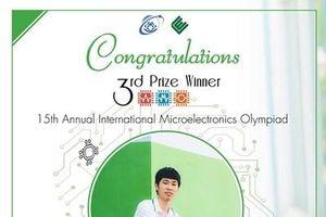 Sinh viên Đoàn Văn Hiếu đoạt giải Ba Olympic Vi điện tử Quốc tế
