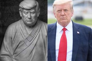 Ý nghĩa bức tượng ông Trump mặc áo cà sa, ngồi thiên gây 'sốt' ở TQ