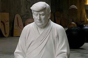 Ý nghĩa bức tượng ông Trump mặc áo cà sa ngồi thiền gây 'sốt' ở Trung Quốc