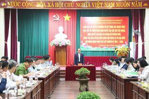 Kiểm tra việc triển khai nghị quyết của Đảng và công tác bầu cử tại huyện Thường Tín