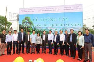 Lễ trồng cây trên các 'Con đường du lịch hoài niệm các di tích quốc gia'