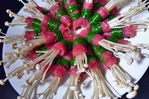 Làm nấm kim châm cuốn thịt ba chỉ thơm ngon bổ dưỡng ai cũng yêu thích