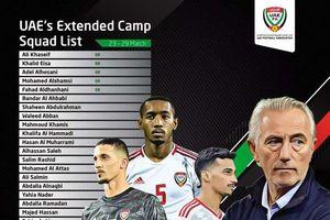 HLV Van Marwjik lên danh sách đội tuyển UAE