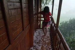 Xuất hiện trận mưa đá đầu tiên trong năm 2021