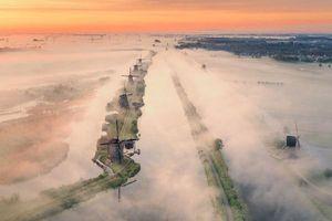 Một Hà Lan đẹp mê hồn và khác lạ khi nhìn từ trên cao