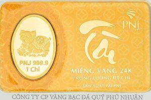 Doanh thu vàng miếng của PNJ tăng 94,2% so với cùng kỳ