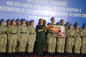 Bệnh viện dã chiến cấp 2 số 3 lên đường làm nhiệm vụ tại Nam Sudan