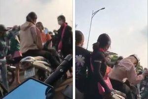 Vụ clip nữ sinh bị đánh hội đồng bằng gậy, mũ bảo hiểm: Những ai đang bị công an truy tìm?