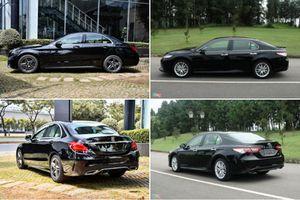 So sánh Toyota Camry 2.5Q với Mercedes-Benz C 180 AMG