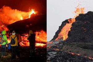 Bất chấp nguy hiểm, hàng ngàn người tụ tập xem núi lửa phun, nhiều người phải đi cấp cứu