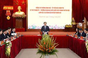 Đảng bộ Thanh Oai tập trung chỉ đạo giải quyết các vấn đề tồn đọng trong sử dụng đất