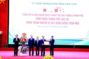 Thành phố Lào Cai đạt chuẩn nông thôn mới