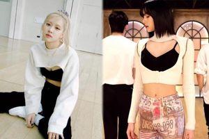 Rosé Black Pink học hỏi Lisa diện áo cắt khoét độc lạ khiến fan no mắt
