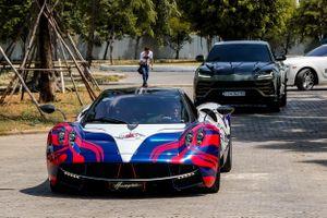 Minh Nhựa lái Pagani Huayra đến buổi họp siêu xe tại TP.HCM