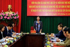 Phó Bí thư Thường trực Thành ủy Nguyễn Thị Tuyến: Cụ thể hóa Nghị quyết Đại hội Đảng các cấp vào nhiệm vụ của các sở, ngành