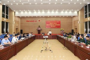 Văn phòng UBND tỉnh Nghệ An họp báo quý I/2021