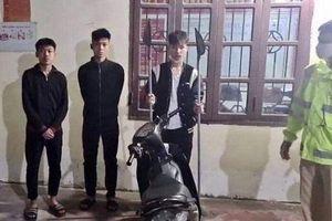 CSGT Hải Phòng tóm gọn 3 thanh niên 16 tuổi mang hung khí đi dạo phố