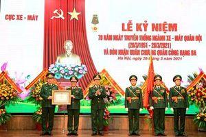Cục Xe – Máy kỷ niệm 70 năm Ngày truyền thống và đón nhận Huân chương Quân công hạng Ba