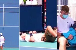 Giải Miami Open 2021: Tay vợt người Anh đang thi đấu bỗng đổ gục và bỏ cuộc vì nắng nóng