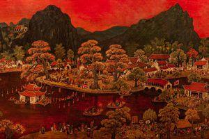 Bức tranh cổ 'Hội chùa Thầy' được trả giá 5 tỷ đồng