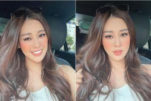 Cận kề ngày lên đường chinh chiến, Khánh Vân 'trổ tài' tự tay make-up, làm tóc đẹp chuẩn Miss Universe