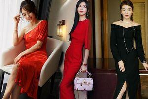 Các mỹ nhân U40 Hoa ngữ diện váy đơn sắc thanh lịch