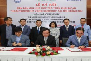 22 tỷ đồng xây dựng 'Ngôi trường hy vọng Samsung ' tại Đồng Nai