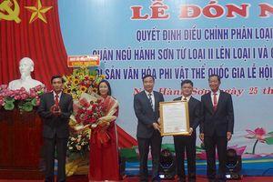 Đà Nẵng: Trao Bằng chứng nhận Lễ hội Quán Thế Âm - Ngũ Hành Sơn là di sản văn hóa quốc gia