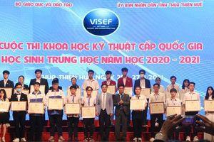 Học sinh Thanh Hóa đạt giải Nhất cuộc thi Khoa học kỹ thuật quốc gia học sinh trung học năm học 2020-2021