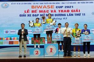 Giải xe đạp nữ Biwase Cup 2021: Tập đoàn Lộc Trời An Giang thắng áp đảo