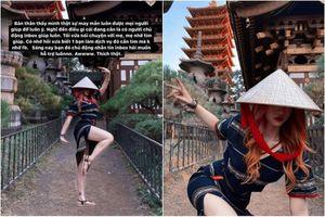 Tạo dáng phản cảm ở chùa, hot girl TikTok khiến netizen 'nóng mắt'