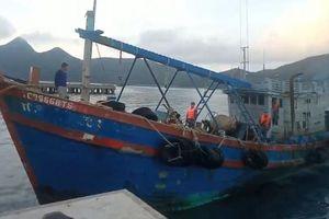 Cảnh sát biển vùng 3 bắt tàu chở 20.000 lít dầu DO không rõ nguồn gốc