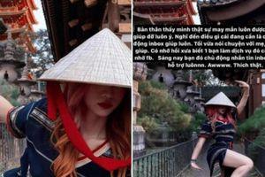 Tranh cãi TikToker Lê Bống diện váy xẻ cao, tạo dáng hớ hênh đi lễ chùa