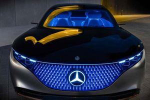 Xe điện cao cấp Mercedes EQS 2022 lộ hình ảnh nội thất