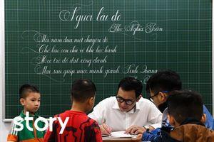 Thầy giáo 20 năm dạy viết chữ đẹp ở Hà Nội